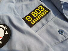 SNAKE PATCH - SNA S 603 CASABIANCA Marine nationale SOUS MARIN NUCLEAIRE scratch
