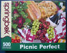 jigsaw puzzle 500 pc Springbok Picnic Perfect grapes wine cheese roses