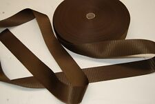 HOLDEN, HQ, LJ, FORD, VALIANT etc. DARK BROWN  SEATBELT WEBBING AUSTRALIAN MADE