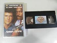 ARMA LETAL 2 LETHAL WEAPON MEL GIBSON DANNY GLOVER VHS COLECCIONISTA CASTELLANO