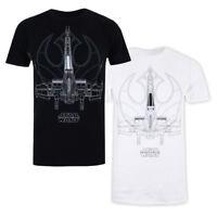 Mens Star Wars The Last Jedi X WING LINES T-Shirt Licensed