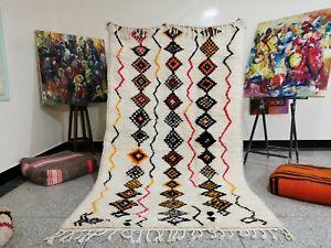 Amazigh Berber Moroccan Handmade Azilal Rug Multicolored Area Rugs 5ft 1 x 9ft 0