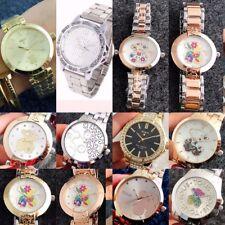 Ladies & Teenagers Bear Stainless Steel Link Band Analog Quartz Wrist watch