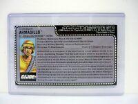 GI JOE ARMADILLO FILE CARD Vintage Action Figure UNCUT / AWESOME SHAPE 1988