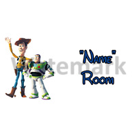 2 Disney Toy Story Personalised Bedroom Door Sign Any Text//Name