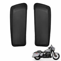 PU Leather Hard Saddlebag Speaker Lid Covers For Touring Glide 2014-2020 2021
