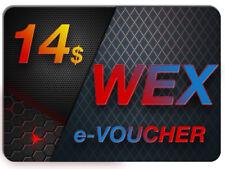 ----> 14 $ USD WEX KOD / E-VOUCHER