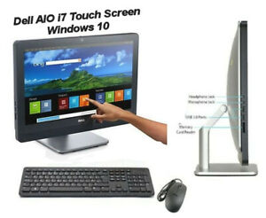 """Dell 23"""" 9010 AIO TOUCH SCREEN All In One PC i7-3770S 3.1GHz 6GB 500GB Win 10"""