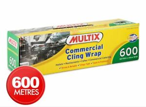 Multix Commercial Cling Wrap 600m x 33cm NEW FREE SHIPPING