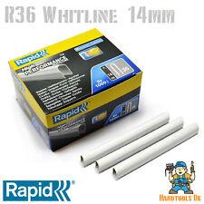 Cable de grapas-rápido R36 Whiteline 14mm (recubierta de blanco) 5000 Paquete a granel