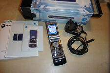 MOTOROLA MOTO KRZR K1 FLIP FRONT VODAPHONE MOBILE PHONE +BOX CHARGE INSTRUCTIONS