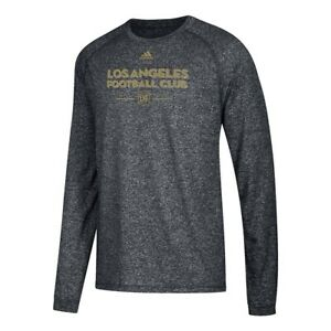 """Los Angeles FC MLS Adidas Men's """"Lined Up"""" Climalite Performance Black T-Shirt"""