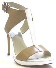 Women's Shoes Michael Kors NANETTE SANDAL T-Strap Sandals Leather NUDE OPTIC