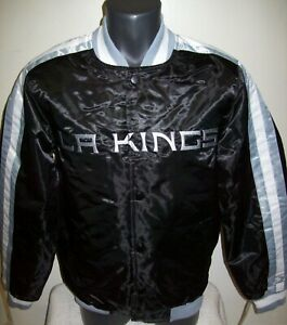 LOS ANGELES KINGS Starter Snap Down Jacket BLACK   L XL 2X