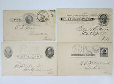 4 Antique Land Office and Treasury Department Postcards Austin Texas Cancel TX