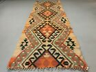 Old Turkish narrow Kilim Runner 288x102 cm, shabby chic, vintage decor kelim rug