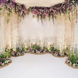 Flower Backdrop Curtain Floral 3D Flower Wedding Birthday Party Background Props