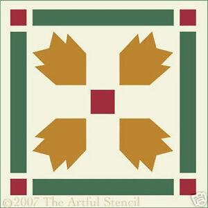 BEAR PAW STENCIL - LODGE - FOLK - The Artful Stencil
