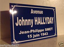 johnny HALLYDAY Plaque de rue place J P SMET objet collector collection cadeau