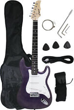 ~Sale New Crescent PURPLE Electric Guitar+Strap+Gigbag+WARRANTY