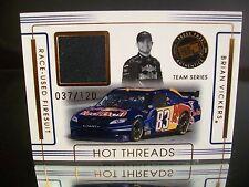 Insert Brian Vickers Press Pass Authentics 2008 Card #HTT-3 RACE-USED FIRESUIT