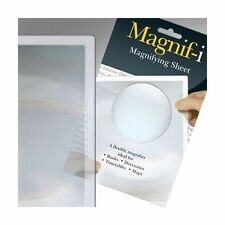 MAGNIFYING SHEET. Flexible Magnifier Ideal for Books Directories Timetables Maps