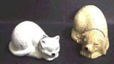 Dog and Cat, Best Friends, Salt and Pepper Shakers, White Kitten, Gold Puppy