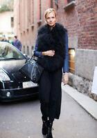100% Real Fur Lamb Fur Vest Mongolian Fur Gilet Waistcoat Coat Jacket Parka New