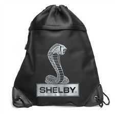 Shelby Super Snake Cobra Logo Draw String Backpack Bag Ford Mustang GT500 SVT