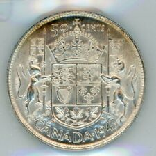1943 Canada Fifty Cents - ICCS AU-58 - Cert#SO880