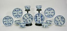 BLUE/WHITE CHINESE EXPORT PORCELAIN QIANLONG PERIOD 6 BOWLS & 6 SAUCERS 18th C.