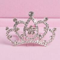 AD_ Girl Kids Rhinestone Princess Hair Clip Wedding Crown Hairpin Comb Tiara Che