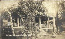 South Hero VT Whites Cottage c1920 Real Photo Postcard
