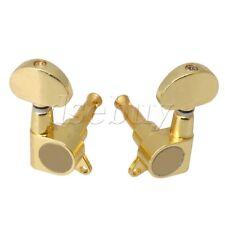 Gold Guitar Machine Heads Tuners 3R3L Semicircle Button