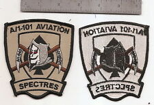"""#252 US ARMY A/1 101ST AVIATION PATCH """"SPECTRES"""""""