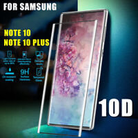 For Samsung Galaxy Note 10 Plus S10+ 9 Tempered Glass Full Screen Protector ^RR