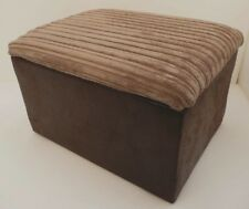 FOOTSTOOL / POUFFE WITH STORAGE SNAKE / CORD FABRIC