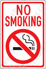 """NO SMOKING on a 8""""x12"""" Aluminum Sign - Made in the USA - UV Protected"""