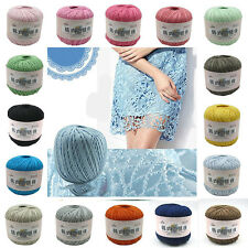 Sale Ball X 50g Cobweb lace yarn making Strong woven Wool Knit Yarn 100% cotton