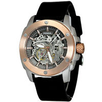 Fossil ME3082 Men's Automatic Watch Black leather strap
