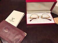 Vintage Round Cartier Eyeglasses--Semi-Rimesss 49/22
