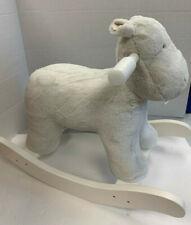 Pottery Barn Kids Faux Fur Hippo Nursery Rocker NEW