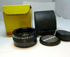 Soligor 2X teleconverter FD lens for Spotmatic tele-converter M42 mount screw