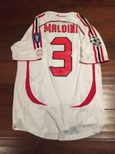 Maldini AC MILAN 2007 SHIRT Large CHAMPIONS LEAGUE WINNERS JERSEY ITALY