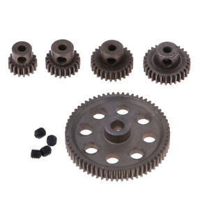 Metal Spur Differential Gear 64T Motor Pinion Cogs Set for HSP 1/10 RC Cars