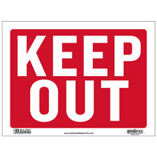"Pack of 2 - Bazic Small 9 x 12 Inches ""Keep Out"" Sign Bright and Highly Visible"