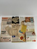 Lot of 10 Vintage Newspaper Magazine Clippings Recipes Betty Crocker Bisquick
