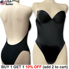 aff1a724948d2 Backless Full Body Shaper Bikini Convertible Seamless Low Back Max Cleavage  9008