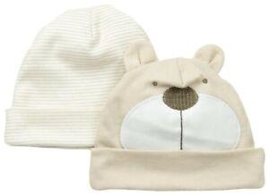 Gerber Baby Unisex 2-Pack Novelty Cap, Brown Bear Friends Design