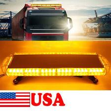 "56 LED 30"" Emergency Beacon Warning Tow Truck Strobe Light Bar- Amber/Yellow US"